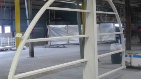 éléments de balcon en acier, 5000mm x 2500mm peints en blanc 9010 brillant - éléments de balcon en acier, 5000mm x 2500mm peints en blanc 9010 brillant